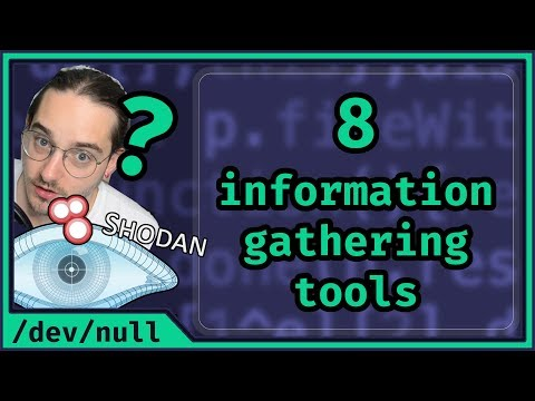 8 Information Gathering Tools | How to Become An Ethical Hacker 0x02
