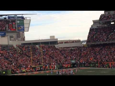 Bengals/Panthers 2014 Mike Nugent misses game winning field