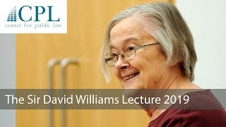 'Principle and Pragmatism in Public Law': The 2019 Sir David Williams Lecture