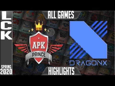 APK vs DRX Highlights ALL GAMES | LCK Spring 2020 W4D3 | APK Prince vs DragonX