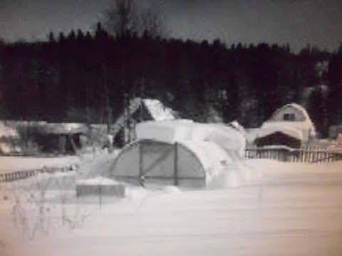 теплица сотовый поликарбонат сломало что сделать никогда не убираю снег зимой .