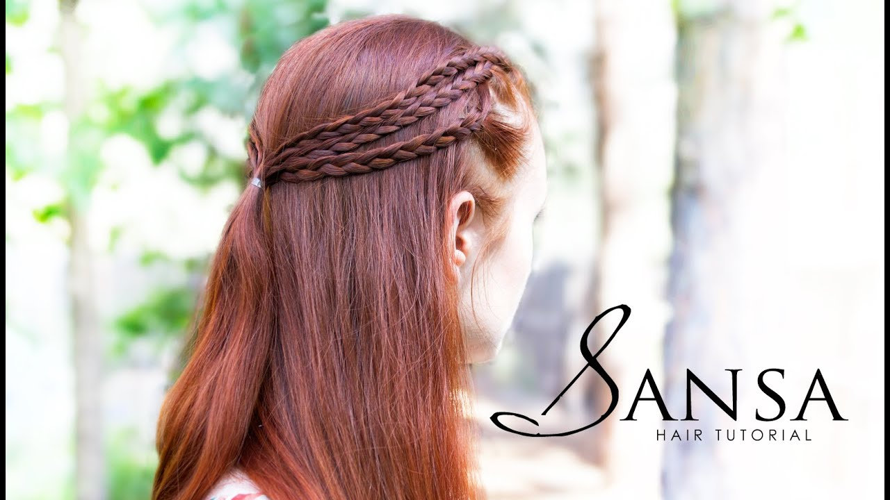 Game Of Thrones Hair Tutorial Sansa Triple Braids Youtube