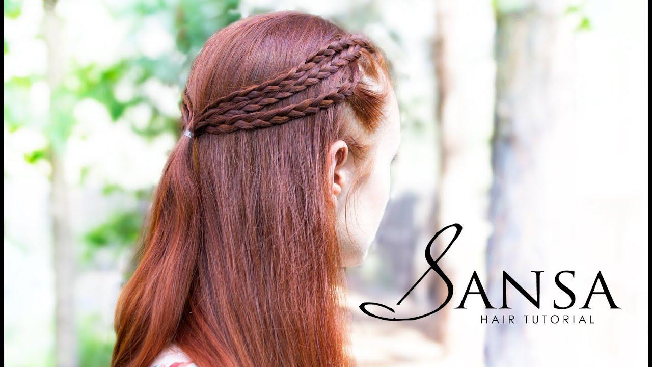 Game of Thrones Hair Tutorial  Sansa Triple Braids  YouTube
