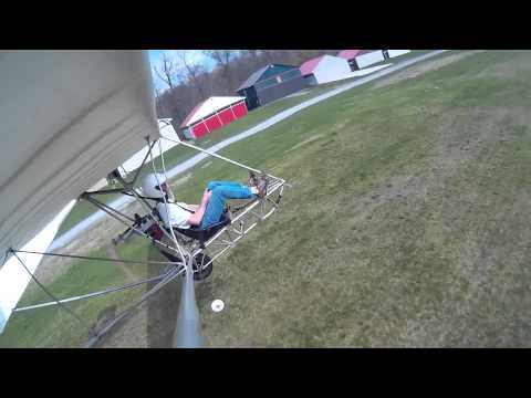 Test flying Goat with engine
