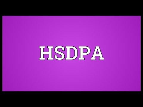 HSDPA Meaning