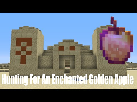 Hunting For An Enchanted Golden Apple In Desert Temples - Minecraft Survival Lets Play