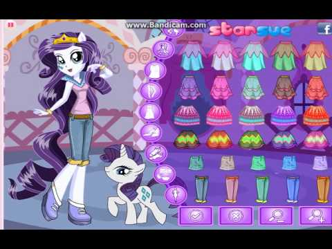 Equestria Girls Rarity - Pony Games - Dress Up Games - YouTube