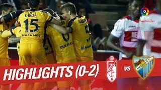 Resumen de Granada CF vs Málaga CF (0-2)