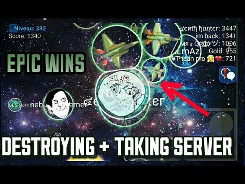 NEBULOUS - EPIC WINS + DESTROYING & TAKING SERVER W/MAROO AND TEKK [AGARIO]