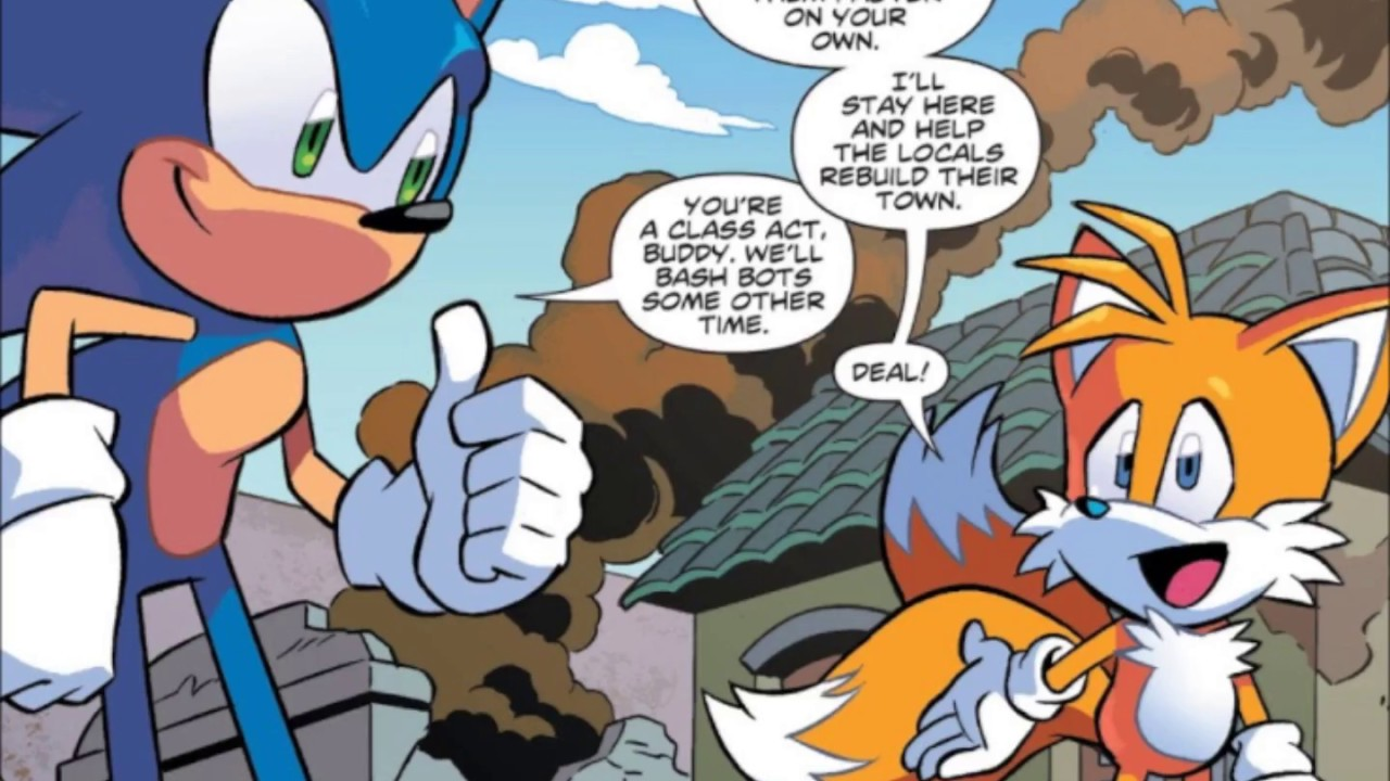 Idw Sonic The Hedgehog Comic Issue 1 Youtube