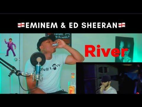 Eminem - River ft. Ed Sheeran (Live at TWICKENHAM 2018) REACTION!!!