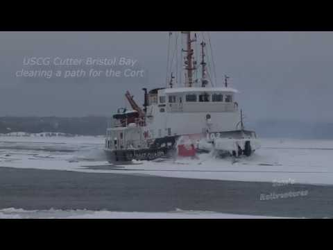 Ice Battles at Sault St Marie: USCG Bristol Bay and Stewart J. Cort