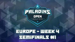 Paladins EU Open Bracket Qualifiers Week 4 - Semifinal #1 (Wolves vs. Burrito)