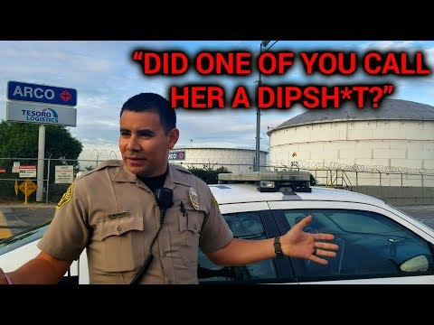 "SOUTH GATE - ARCO TESORO LOGISTICS REFINERY - OFFICER MORALES ""DID ONE OF YOU CALL HER A DIPSH*T?"""