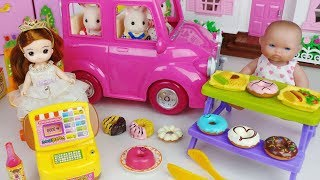 Baby Doll and food car shop toys picnic cooking play - 토이몽