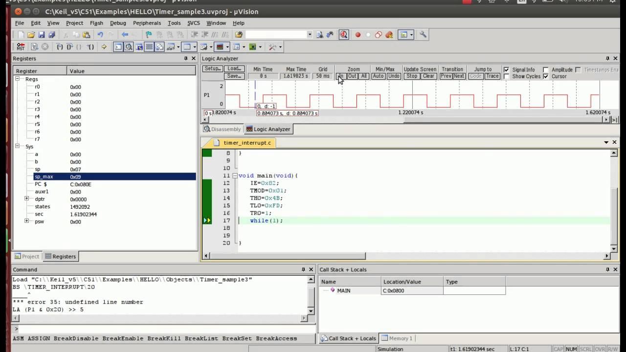 8051 Timer Interrupt-session2 demo using Keil