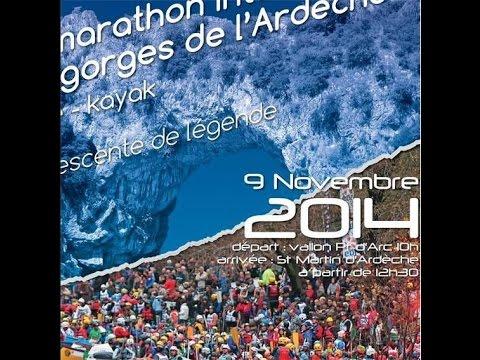 Marathon des Gorges de l'Ardèche 2014. HD