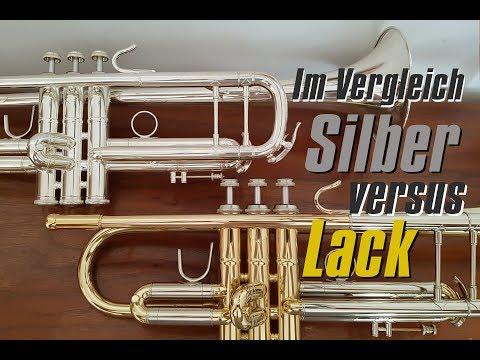 Silber vs.  Lack / Silver vs. Laquer trumpet finish