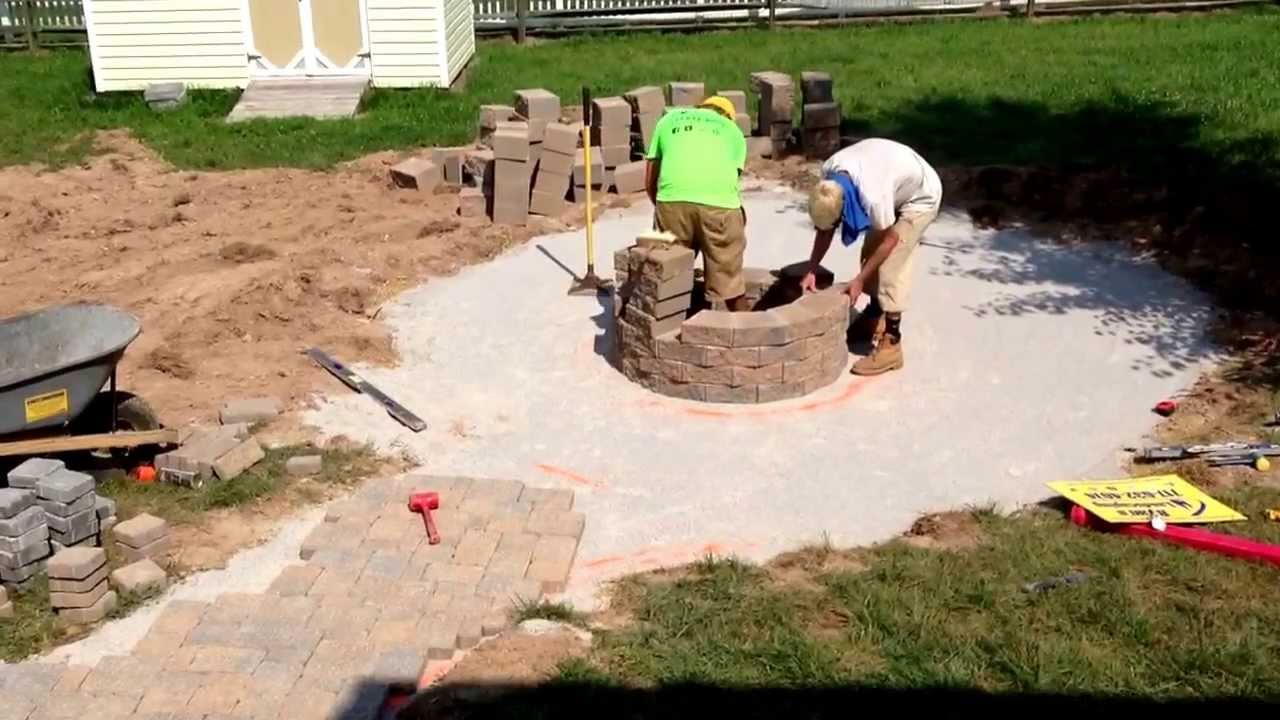 stacking retaining wall block for a fire pit in littlestown pa