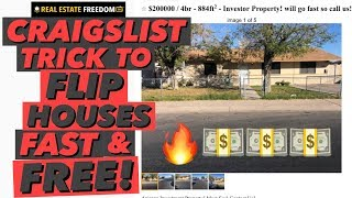 Trick For Flipping Cheap Real Estate For FREE on Craigslist
