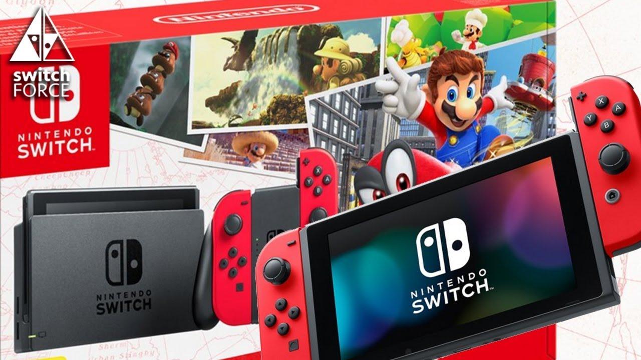 Super Mario Odyssey Switch Bundle Revealed New Joy Con Youtube Nintendo Grey 2game 2amiibo