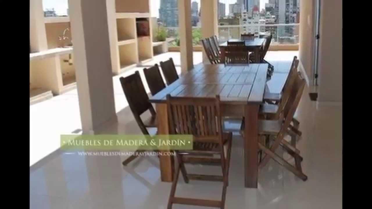 fabrica de mesas muebles de madera y jard n com youtube