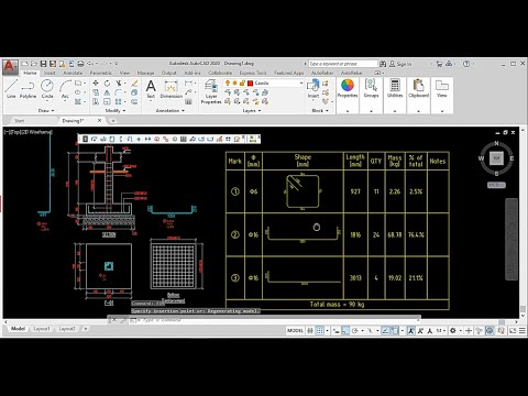 How to detail small footing with AutoRebar in AutoCAD 2020
