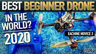 BEST BEGINNER DRONE? - EACHINE NOVICE 3 - REVIEW & FLIGHTS