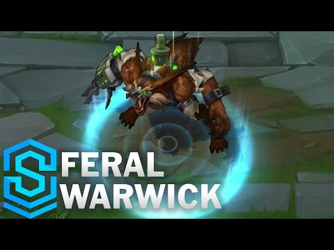 Feral Warwick (2017 Rework) Skin Spotlight - Pre-Release - League of Legends