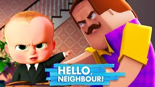Minecraft - BOSS BABY GETS TAKEN BY HELLO NEIGHBOUR 2!