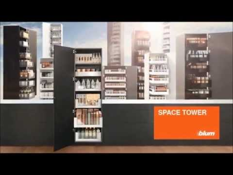 space tower blum youtube. Black Bedroom Furniture Sets. Home Design Ideas