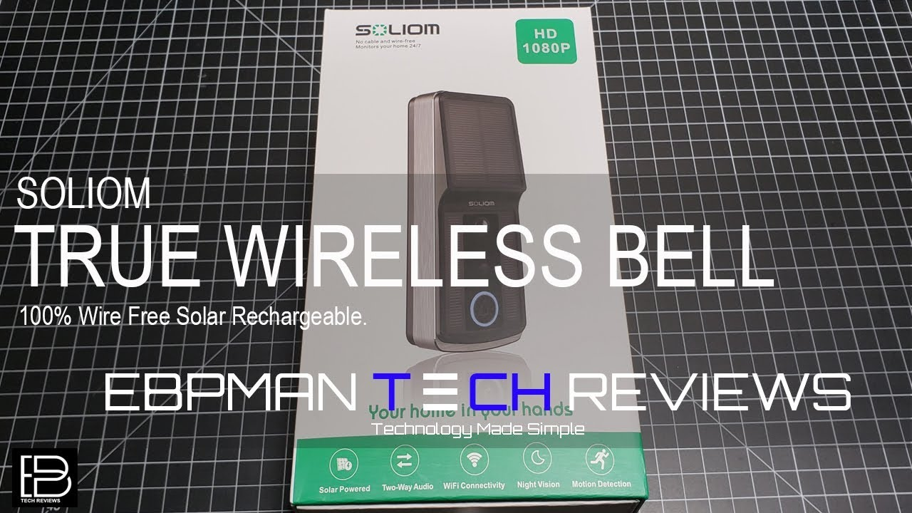 1080P Wireless Smart Doorbell 100% True Wire Free and Solar ...