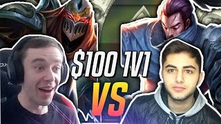 REDMERCY (ZED) VS YASSUO (YASUO) ONLY! | $100 1v1 SHOWDOWN!! - League of Legends
