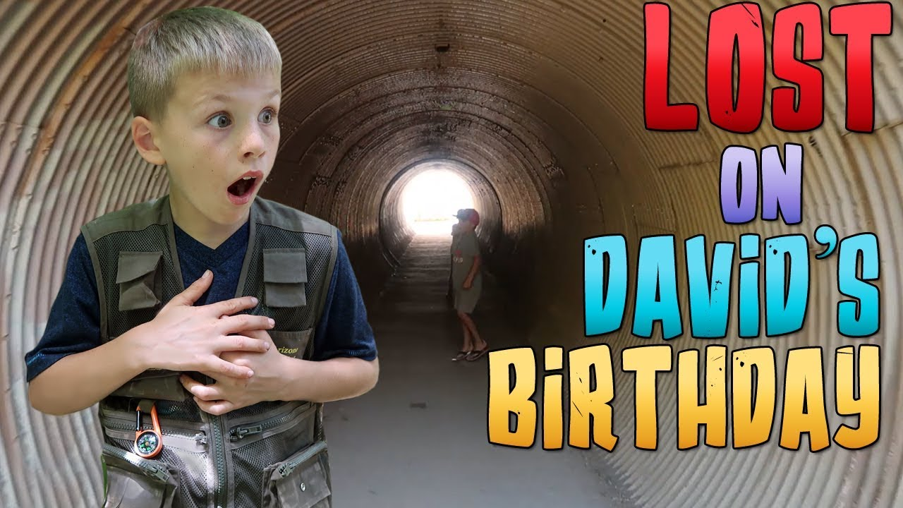 LOST in a HUGE Tunnel on David's Birthday!