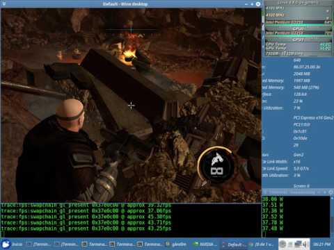Red Faction Armaggeddon Test NVENC x64 + Sound (Pentium G3258) con el Wine 2.13 + Nvidia 384.59