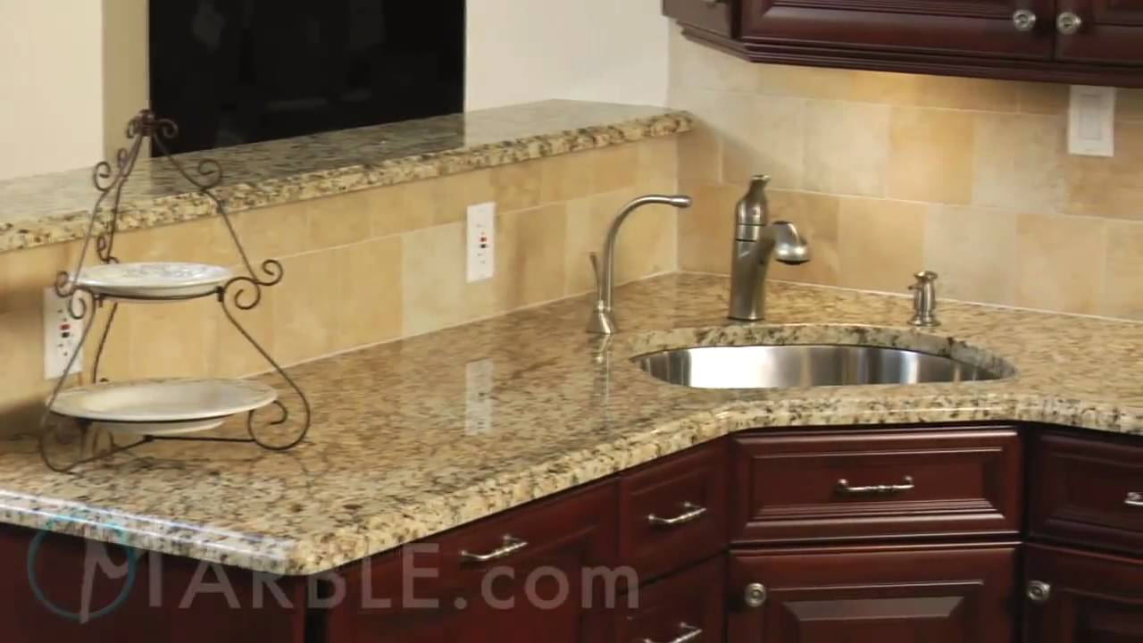 Delightful New Venetian Gold Granite Backsplash Ideas Part - 12: New Venetian Gold - YouTube