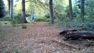 Hannah jumping at Delamont country park Killyleagh