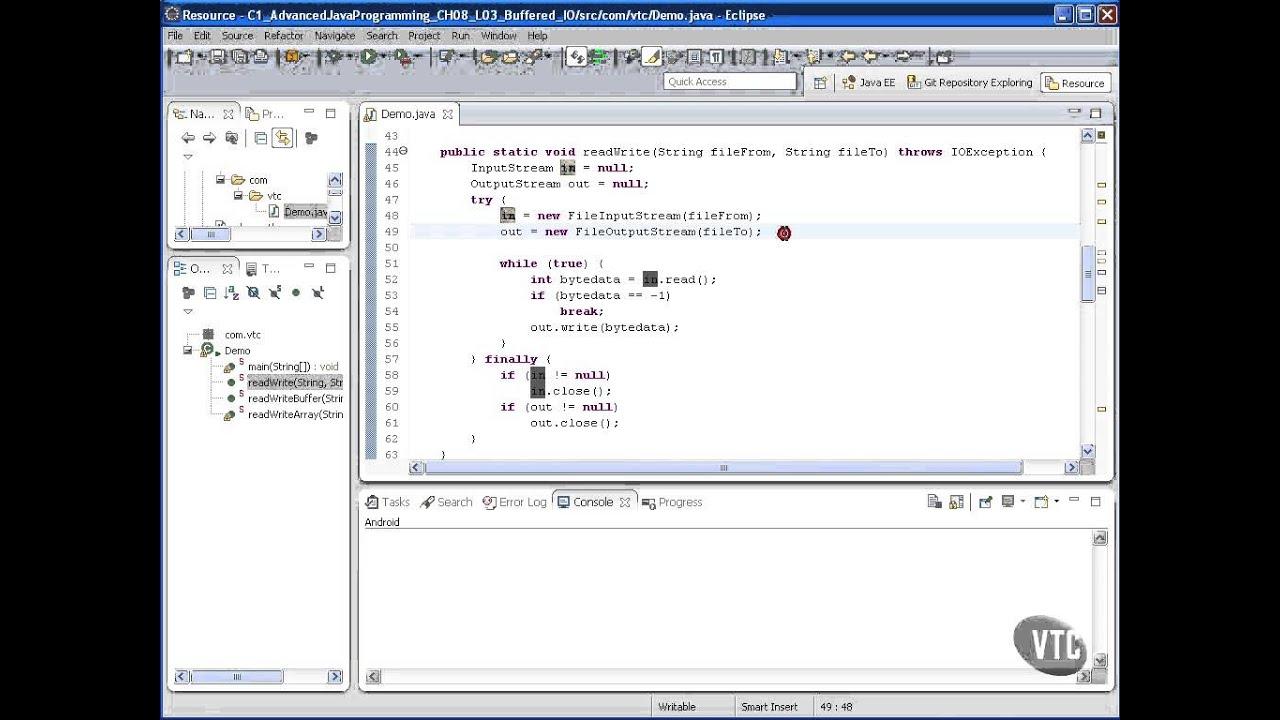 Advanced Java tutorial - Buffered I O - YouTube