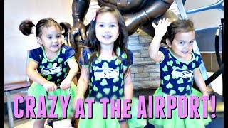 CRAZY at the AIRPORT! - July 14, 2017 -  ItsJudysLife Vlogs