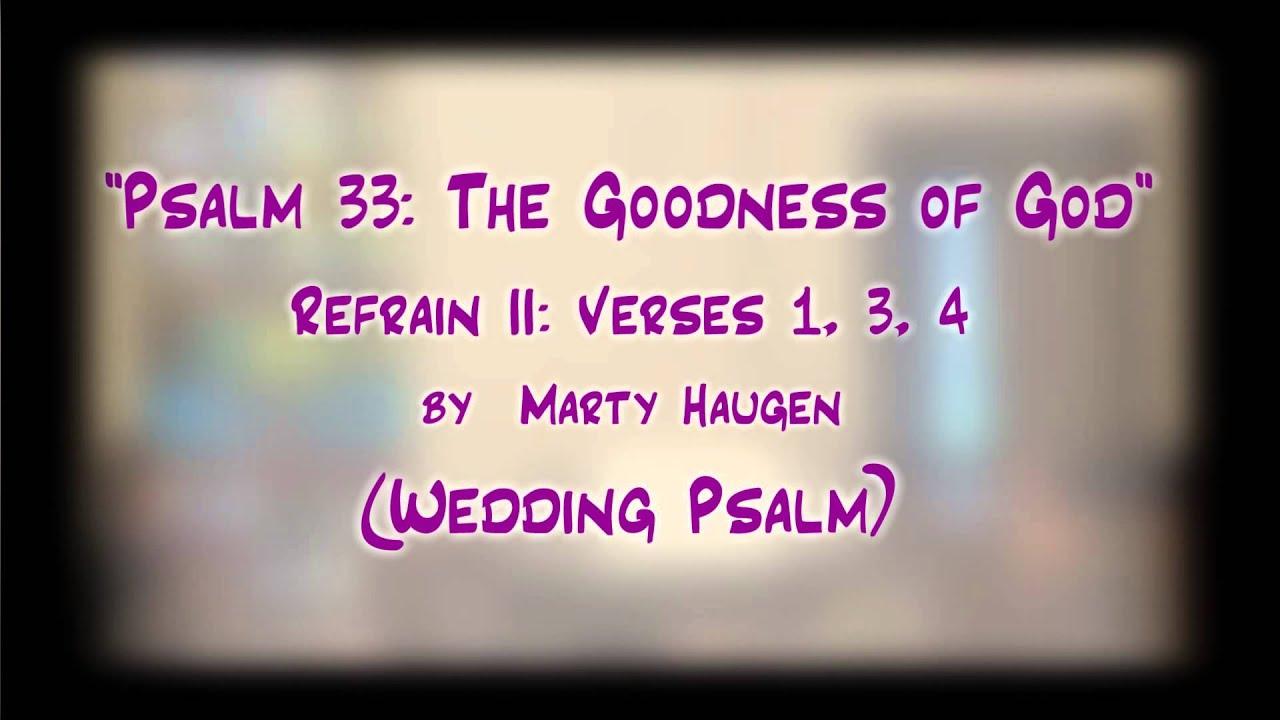 Psalm at wedding