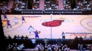 NBA 2K11 Wii Gameplay (LA @ MIA)