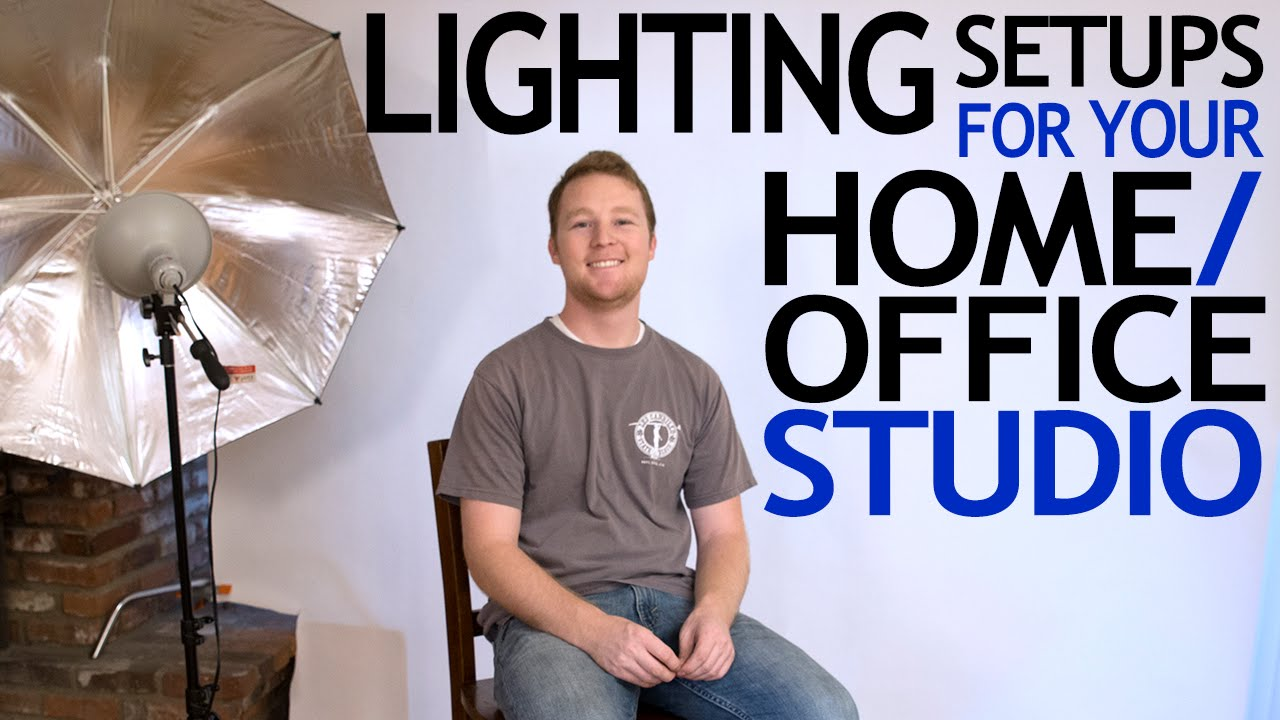 5 lighting setups for your home or office studio youtube