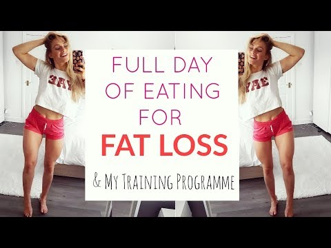 FULL DAY OF EATING FOR FAT LOSS | My Training Programme Explained