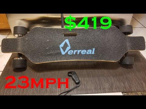 Verreal V1 Electric Skateboard Review.  Verreal Ride Test.