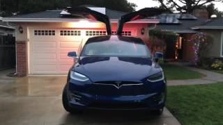 Tesla Model X holiday show easter egg