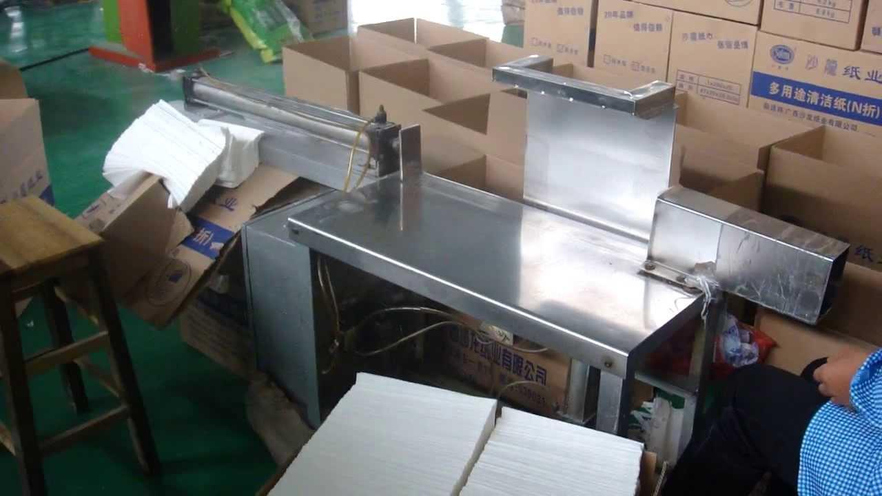 Manual Packing Machine For N Fold Hand Towel Doovi