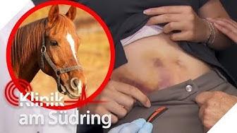 Böses Pferd: Reiterin wird getreten! Jetzt blutet sie untenrum! | Klinik am Südring | SAT.1 TV