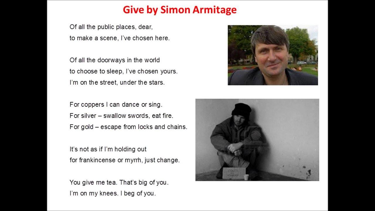 Poem and person simon armitage
