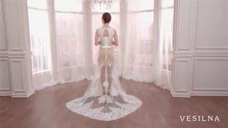 Короткое свадебное платье от VESILNA™ модель 3077