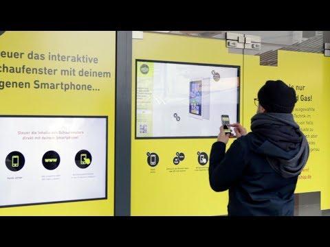 FLUUR gestaltet interaktives Schaufenster  für Yello